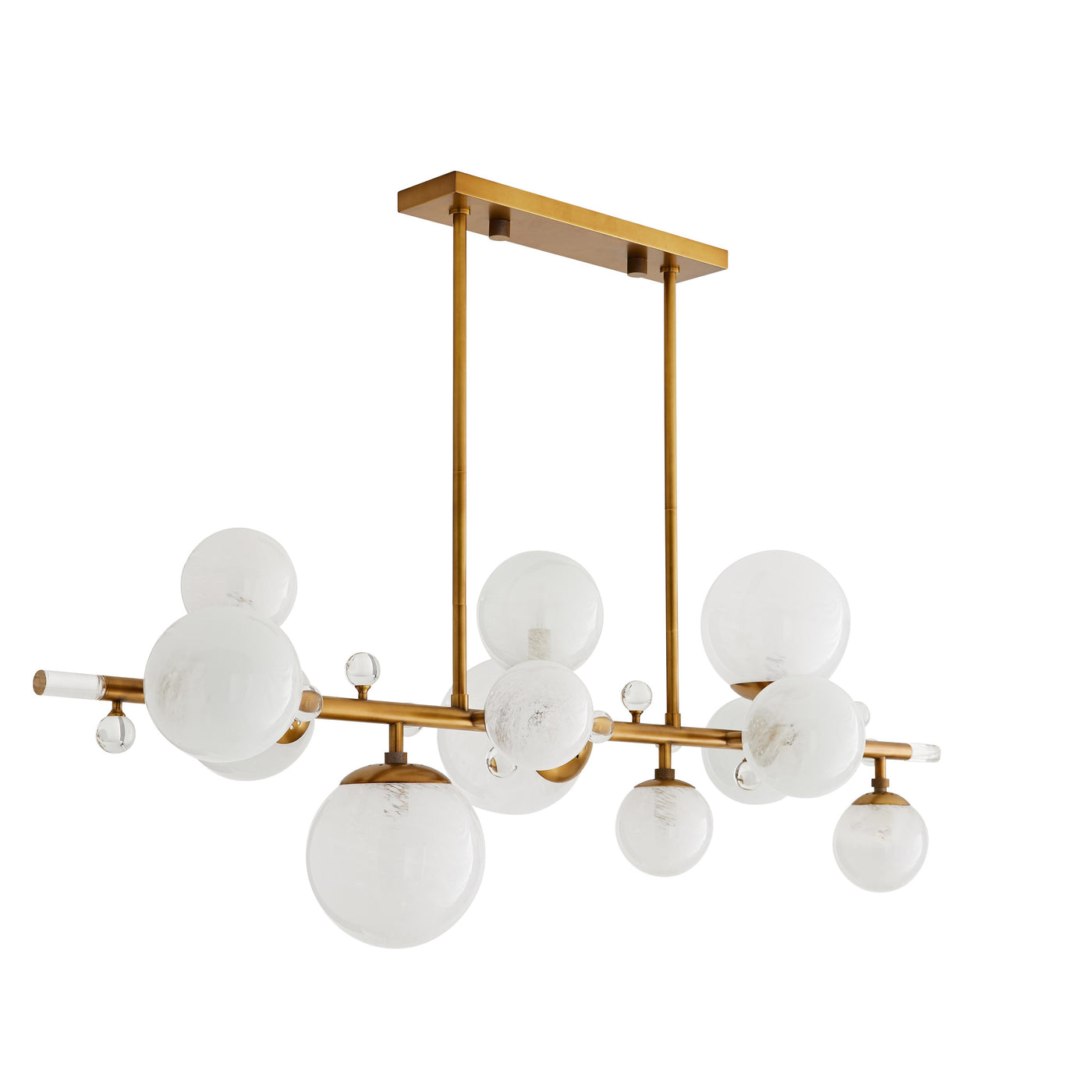 arteriors troon chandelier antique brass angle