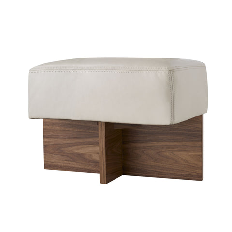 arteriors tuck bench ivory leather