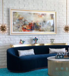 arteriors turner sofa indigo seating