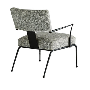 arteriors wallace chair pitch texture back