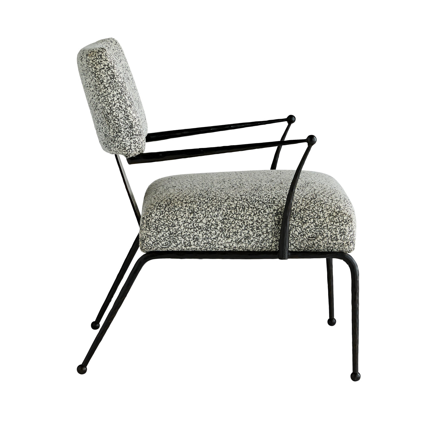 arteriors wallace chair pitch texture side