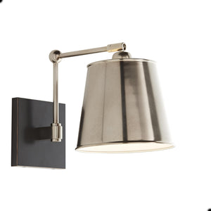 arteriors home watson wall light metal