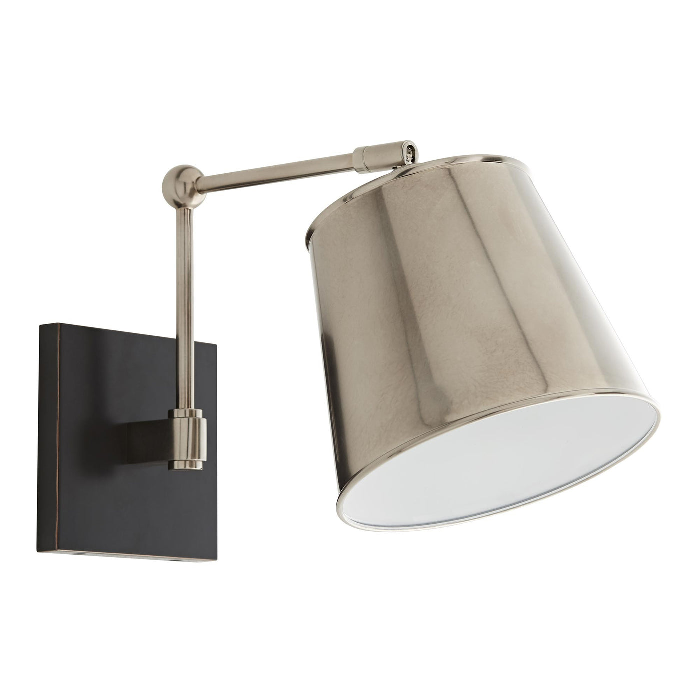 arteriors watson wall sconce silver