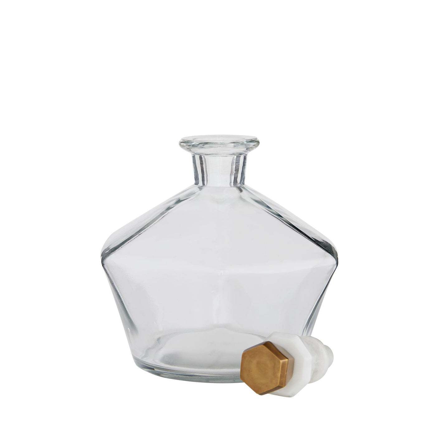 arteriors home Wilshire decanter glass with top