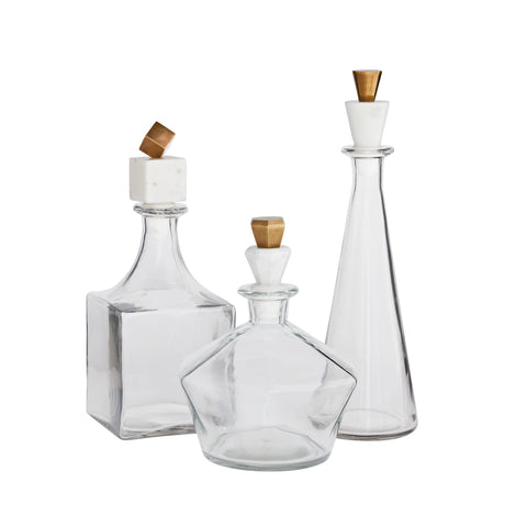arteriors home Wilshire decanter set of 3