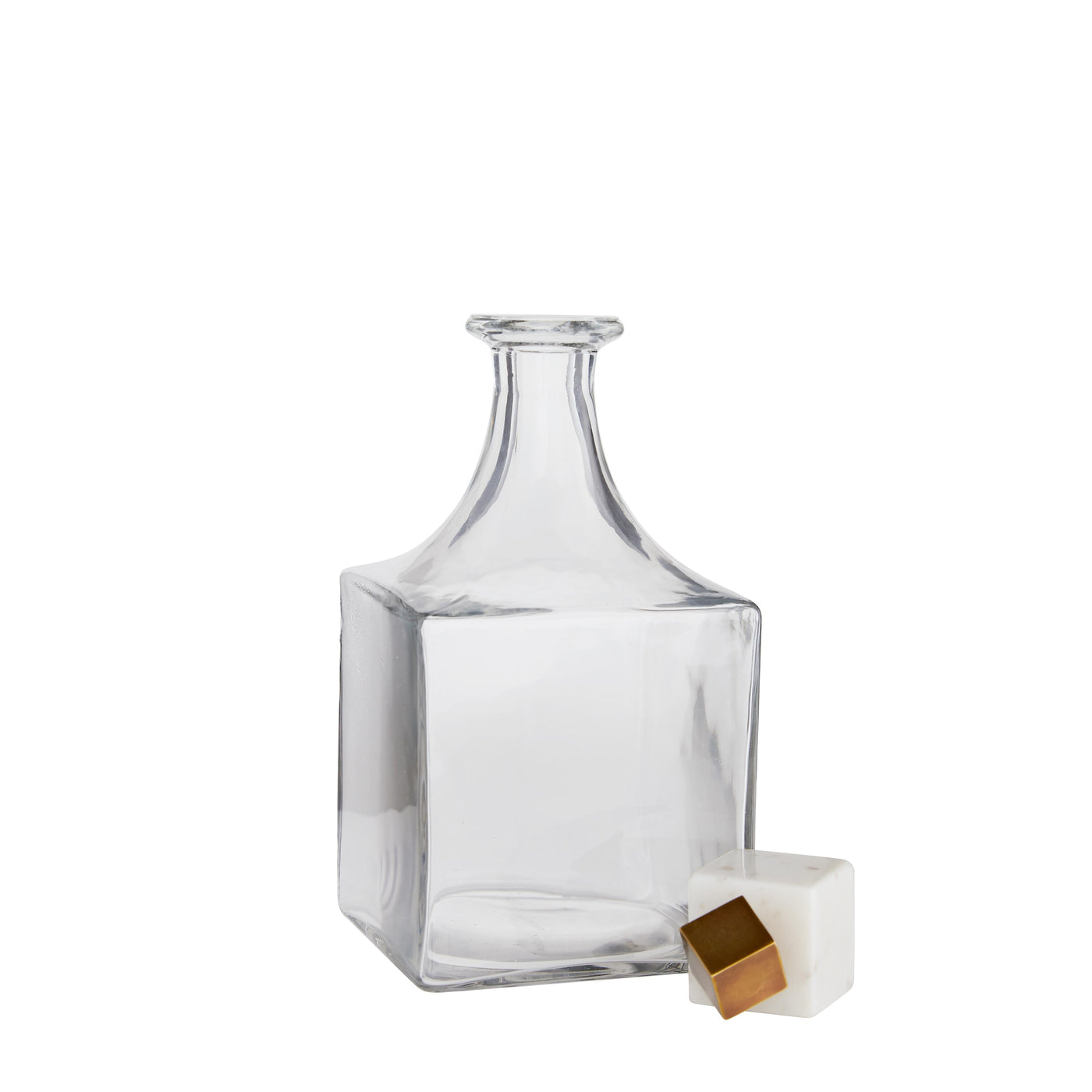 arteriors home Wilshire decanter glass square marble