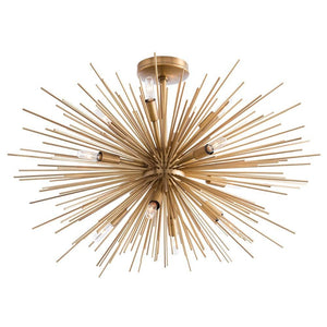 arteriors home zanadoo fixed chandelier antique brass