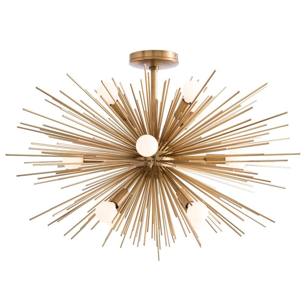 arteriors home zanadoo fixed chandelier antique brass illuminated