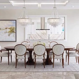 Florida design magazine vintner chandelier blanc currey and company
