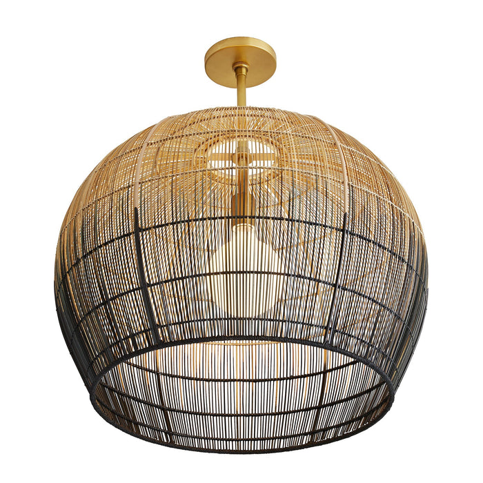 arteriors home swami small pendant bottom view illuminated