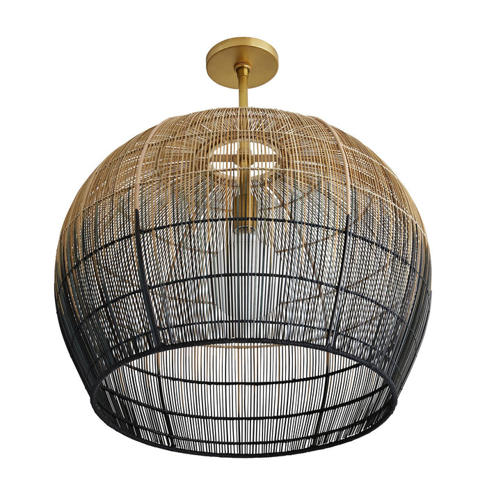 arteriors home swami small pendant bottom view