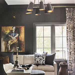 Atlanta home magazine currey company jean Louis chandelier