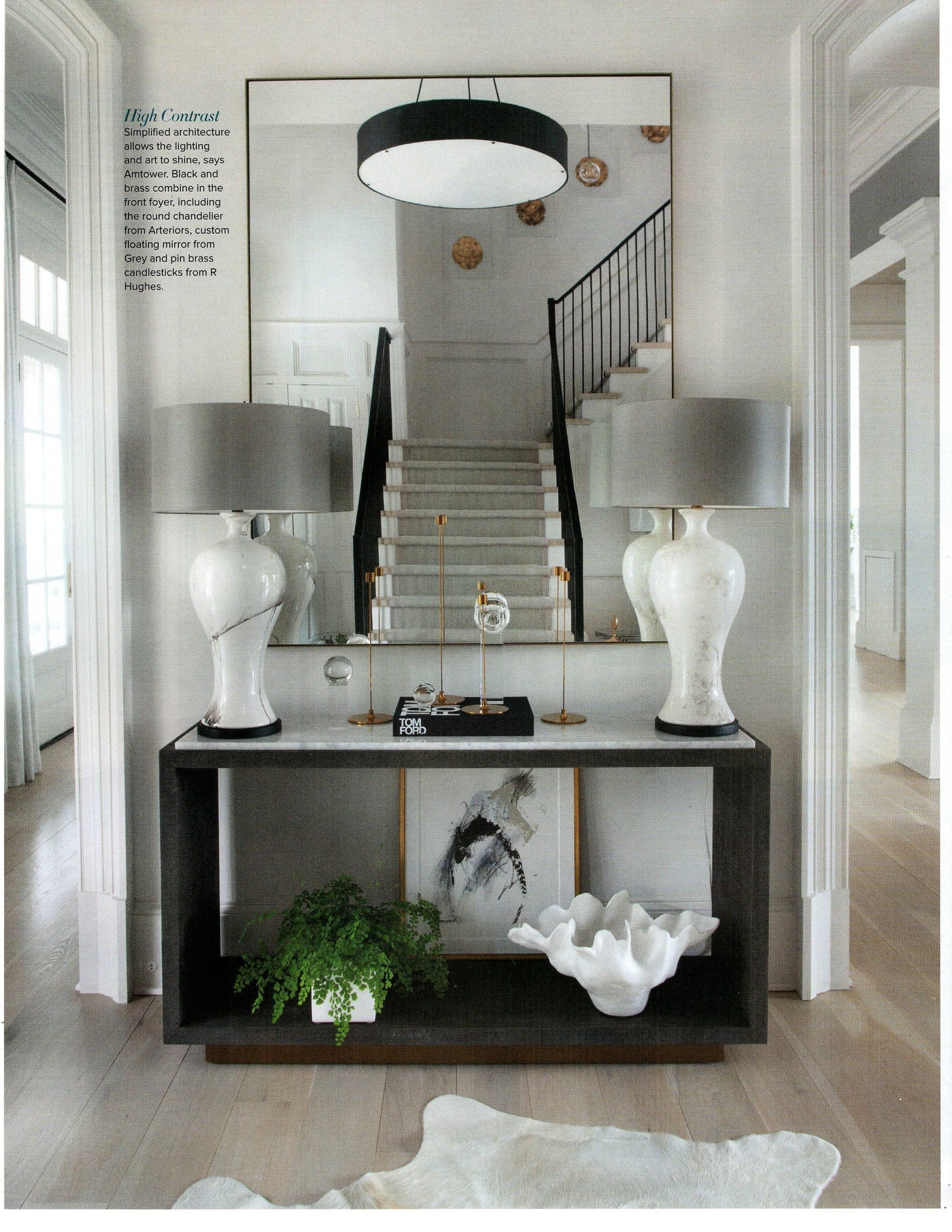 atlanta homes magazine arteriors home Marsha pendant entryway