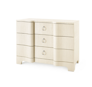 Bungalow 5 Bardot Large 3 Drawer Natural Cream Silver