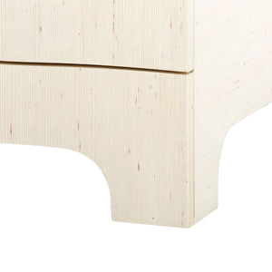 four hands bardot three drawer side table natural