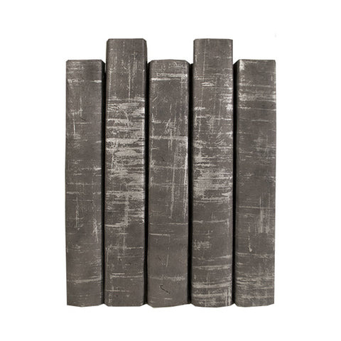 e lawrence brushed gray book set of 5