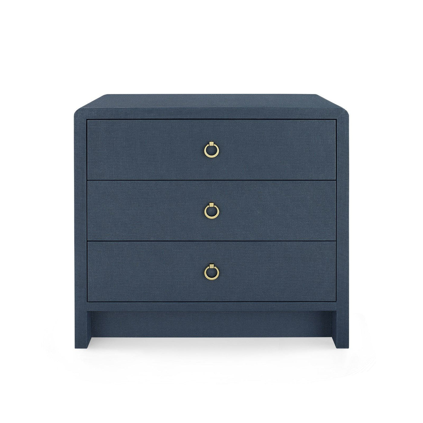 bungalow 5 bryant 3 drawer side table navy blue