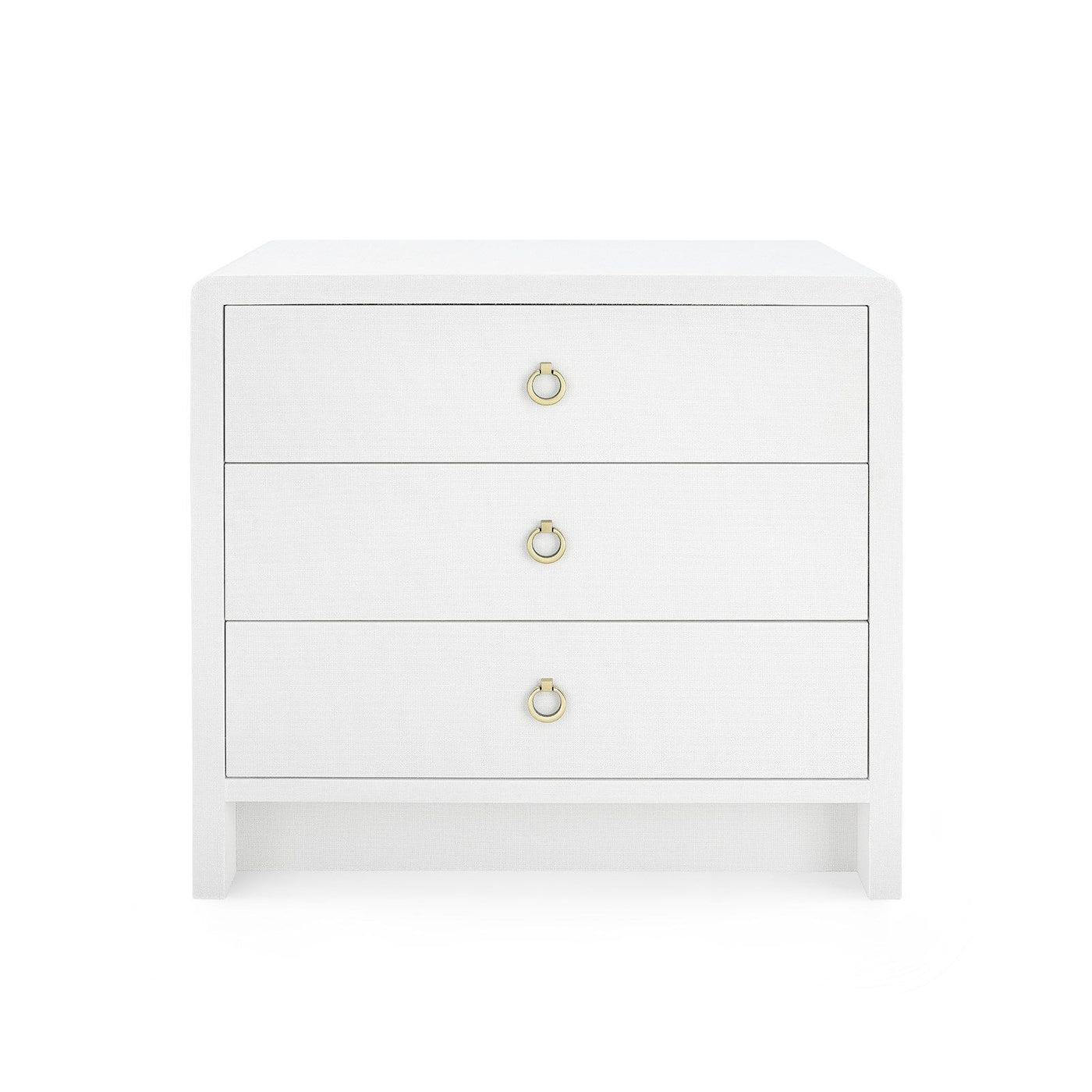 Bungalow 5 Bryant 3-Drawer Side Table White Dresser Gold