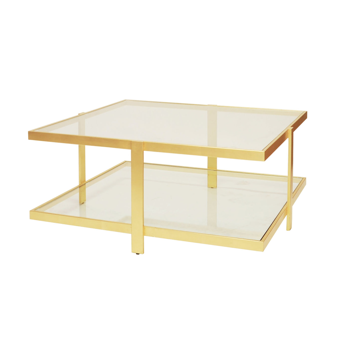 worlds away Maris coffee table brass glass square table