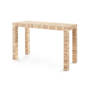 four hands parsons console table natural angle