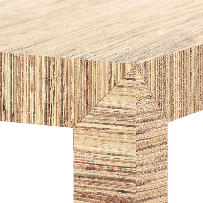 four hands parsons console table natural corner