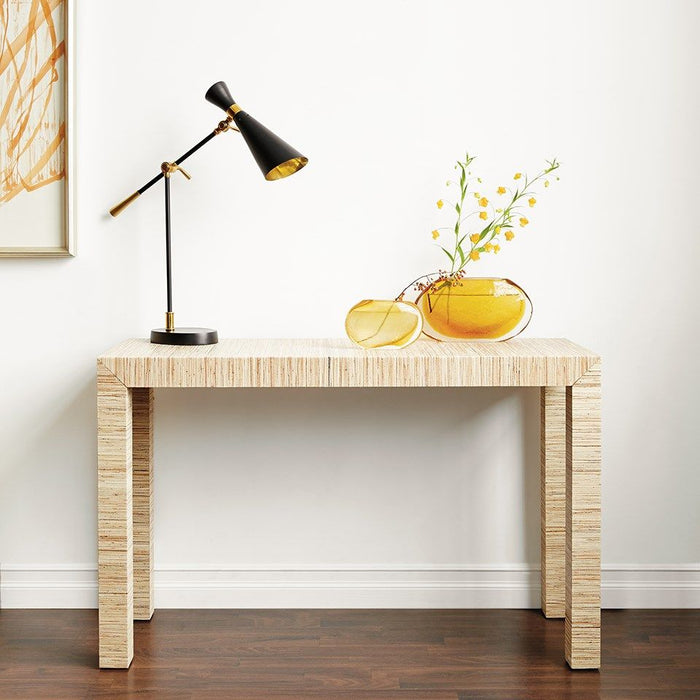 four hands parsons console table natural styled