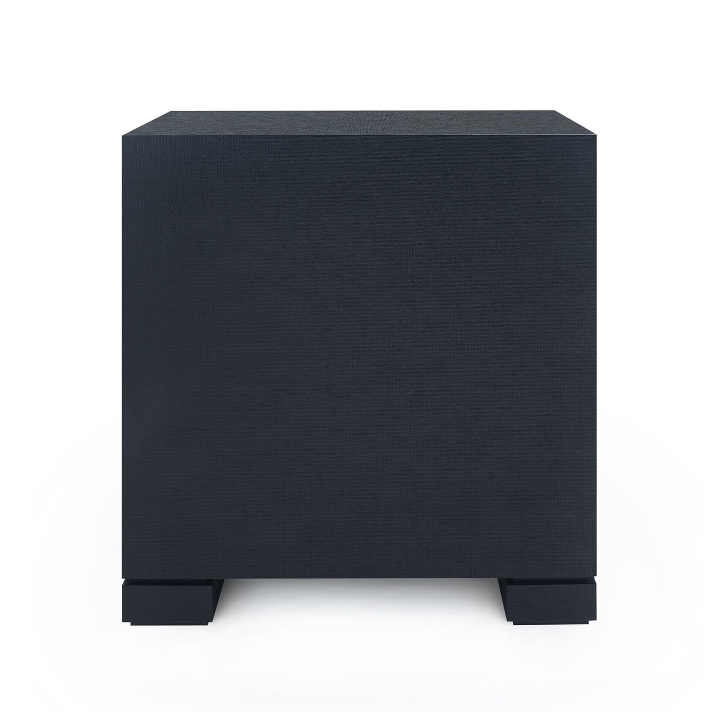 Bungalow 5 Frances 2 Drawer Side Table Black FRA-120-51 Back  bed side table, bedroom side tables, modern side table, black side table, side tables for living room