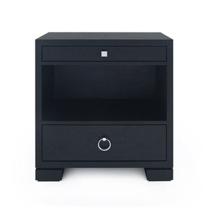 Bungalow 5 Frances 2 Drawer Side Table Black FRA-120-51 bed side table, bedroom side tables, modern side table, black side table, side tables for living room
