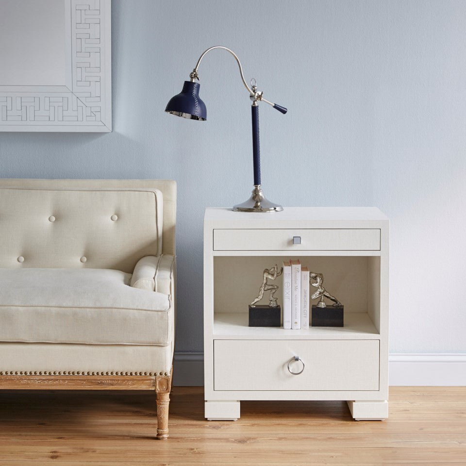 Bungalow 5 Frances 2 Drawer Side Table White
