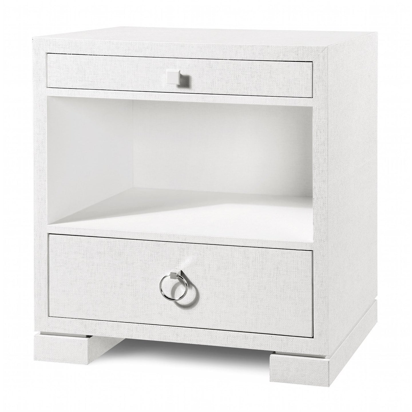 Bungalow 5 Frances 2 Drawer Side Table White – CLAYTON GRAY HOME