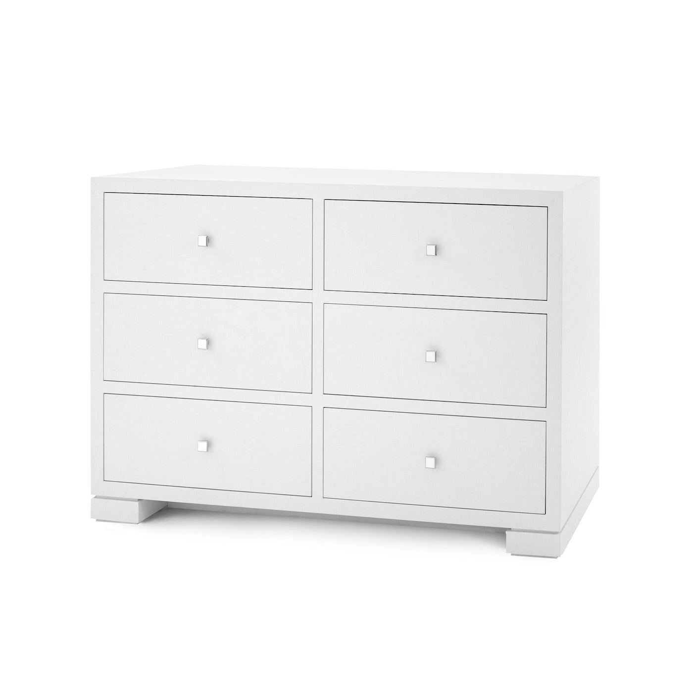Bungalow 5 Frances Extra Large 6 Drawer Chest White FRA-250 Angle