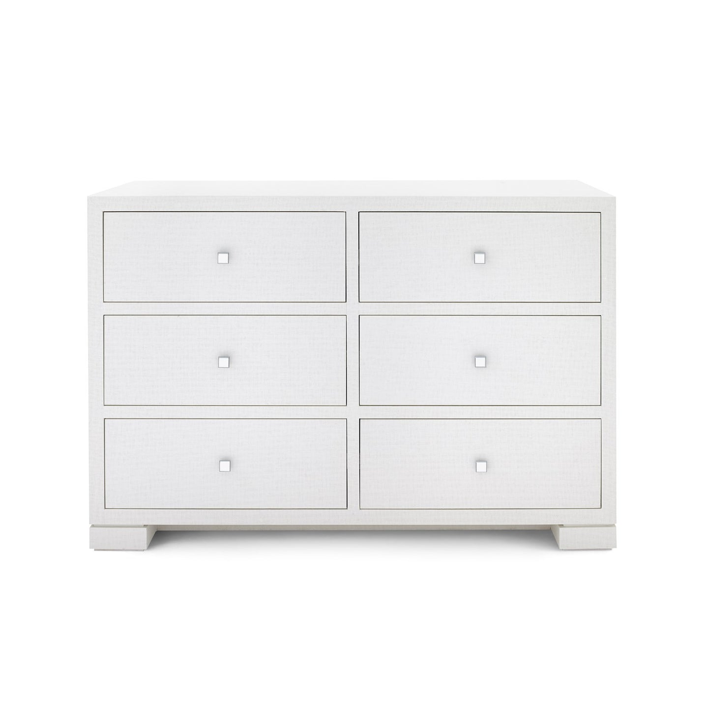 bungalow 5 frances extra large 6 drawer chest white fra250