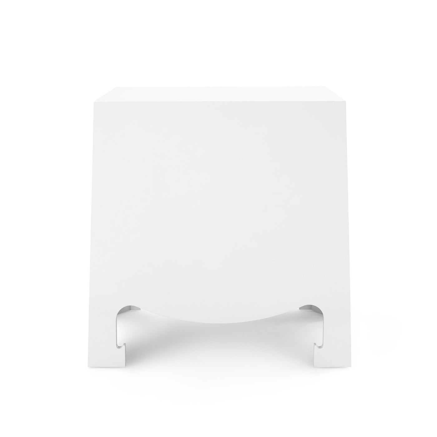Bungalow 5 Jacqui 3 Drawer Side Table White JAC-130-09 Back bed side table, bedroom side table, modern side table, white side table