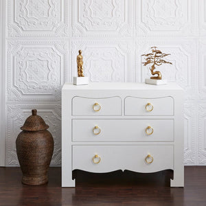 Bungalow 5 Jacqui Large 4 Drawer Chest White JAC-225 Room View