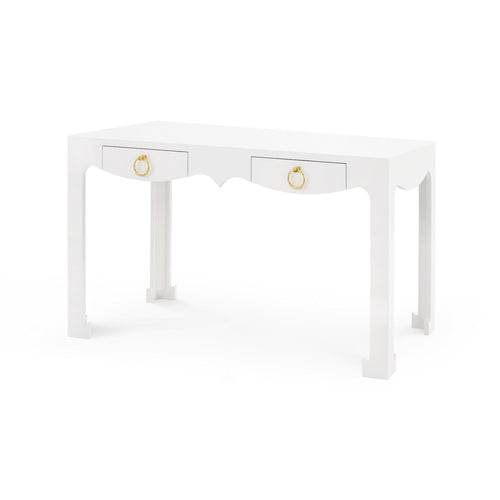 Bungalow 5 Jordan Console Desk White JOR-350 modern desk, media console, white console table, modern console table, computer desk, white student desk, console living room, home office desk