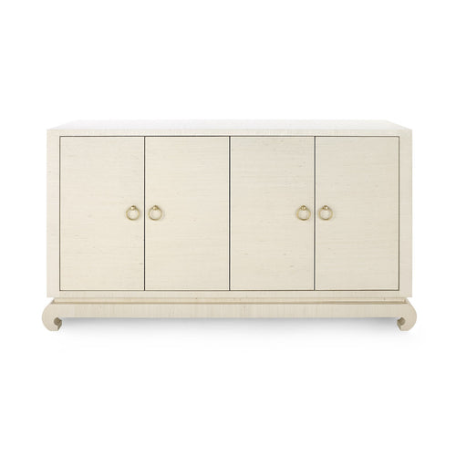 Bungalow 5 Meredith 4 Door Cabinet Natural MNG-450-64 cabinet, storage, 4 door,