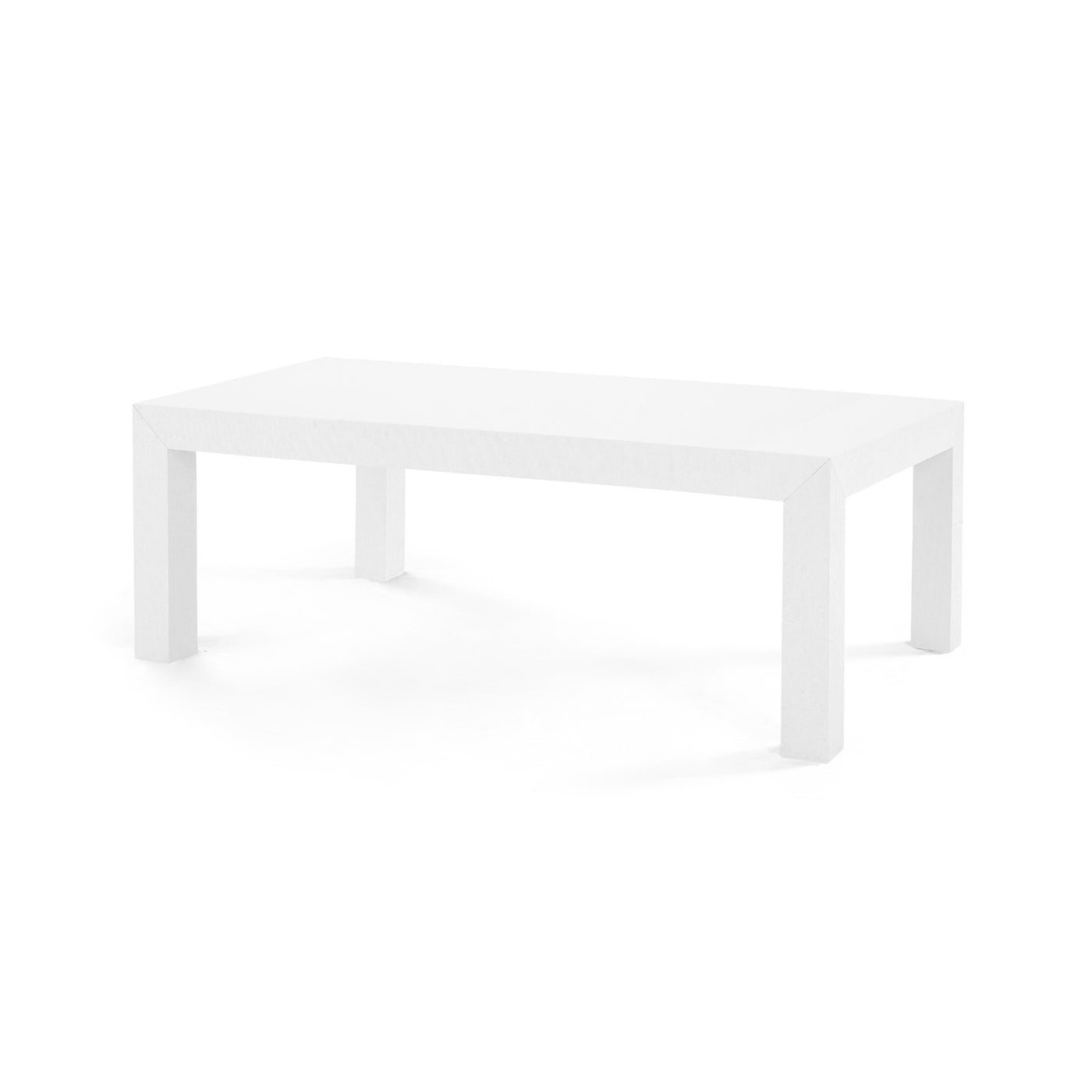 Bungalow 5 Parsons Coffee Table White angled view