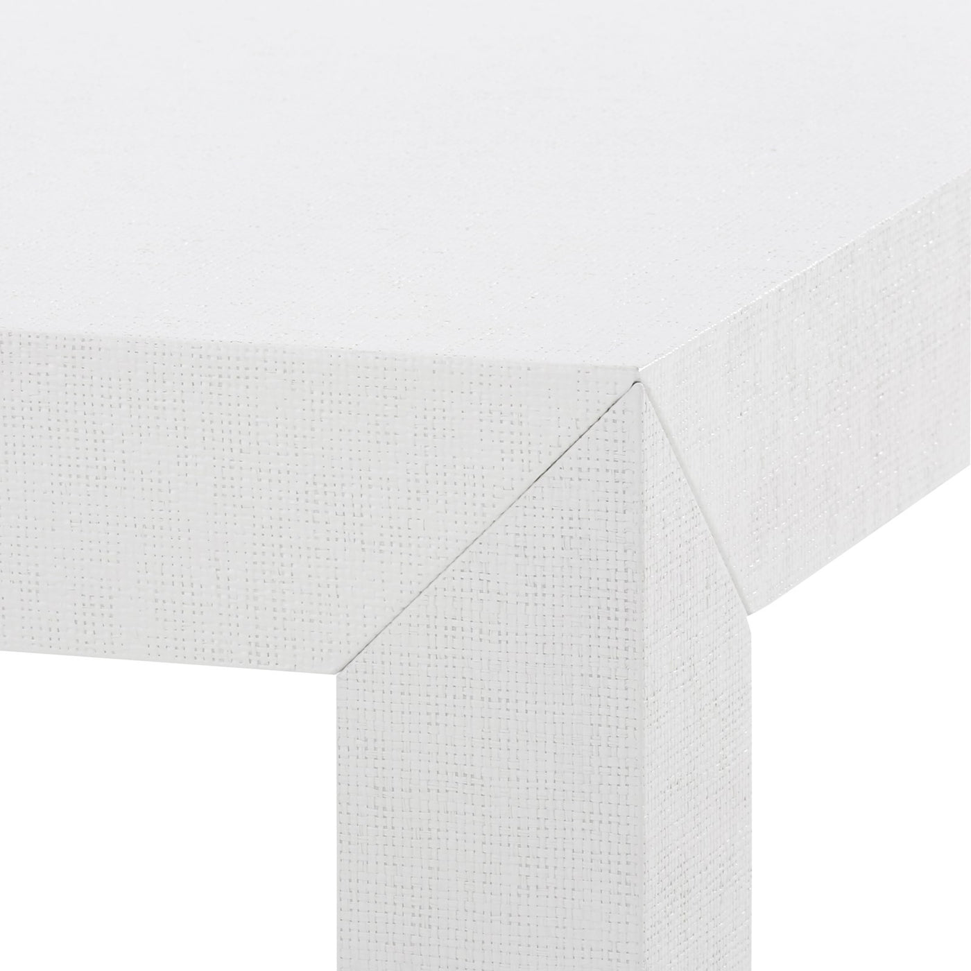 Bungalow 5 Parsons Coffee Table White PSN-300-59 corner detail