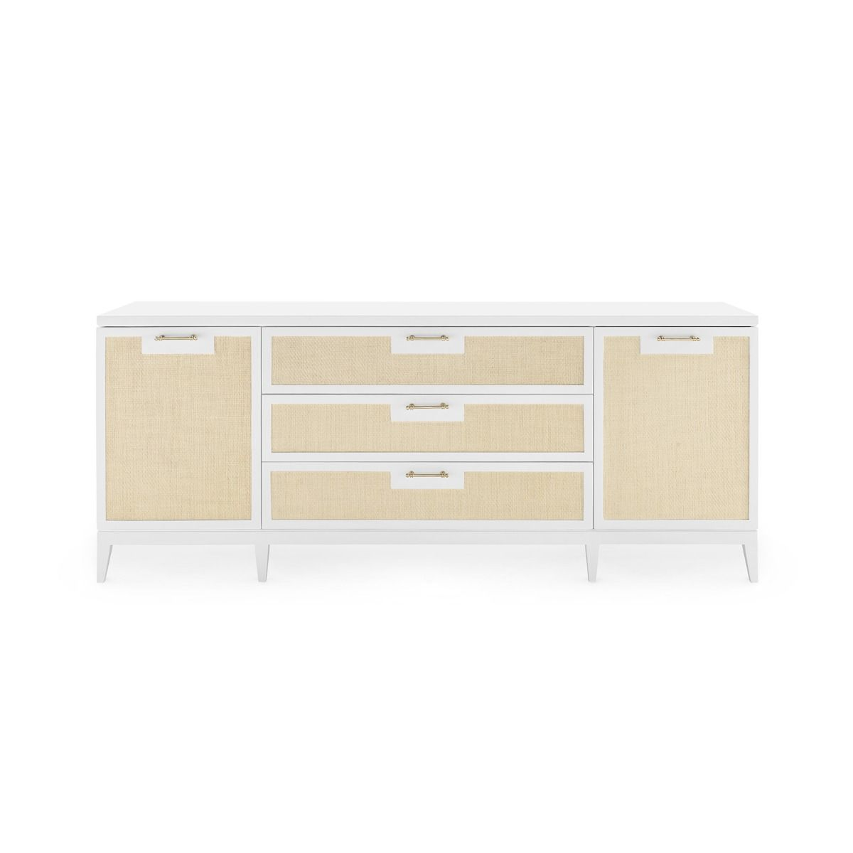 bungalow 5 astor 3 drawer and 2 door cabinet white forward facing