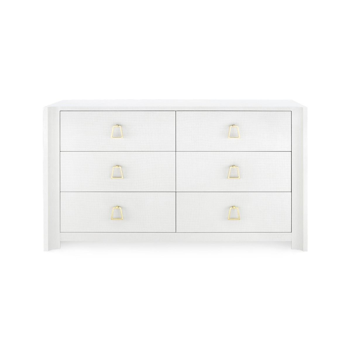 bungalow 5 audrey 6 drawer dresser white front