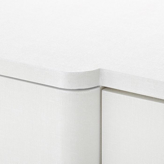 bungalow 5 audrey 6 drawer dresser white detail