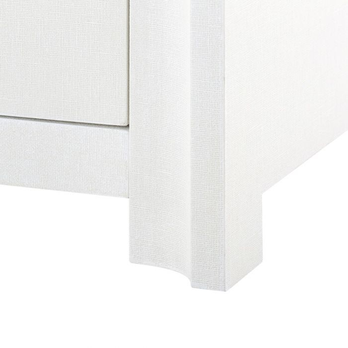 bungalow 5 audrey 6 drawer dresser white leg