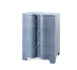 Bungalow 5 Bardot 3 Drawer Side Table Navy Blue chest