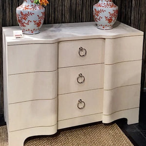 bungalow 5 bardot 3 drawer dresser cream styled