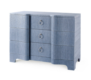 Bungalow 5 Bardot Large 3 Drawer Navy Blue Grasscloth
