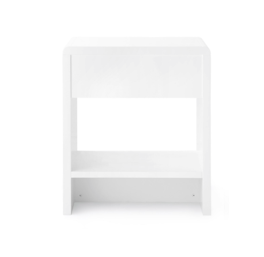 Bungalow 5 Benjamin 1 Drawer Side Table White Gold Pull back
