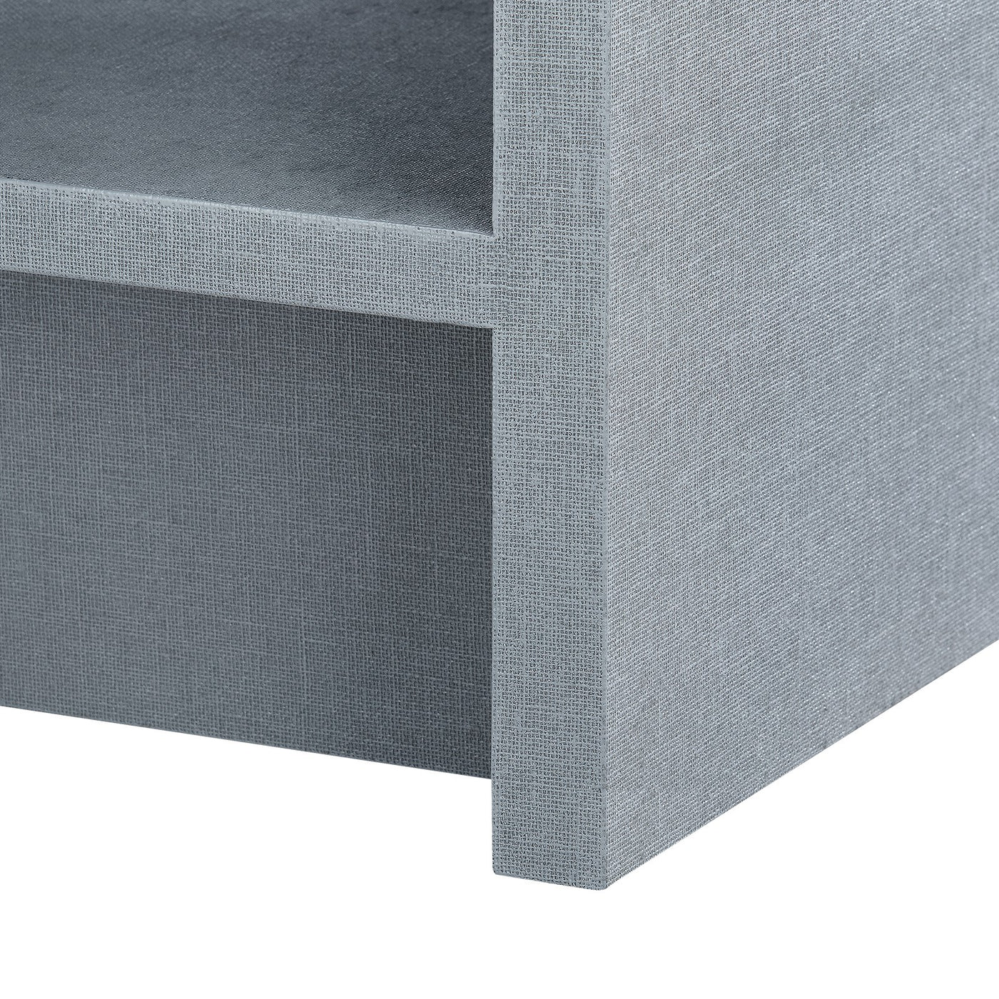 bungalow 5 benjamin linen 1 drawer side table gray leg