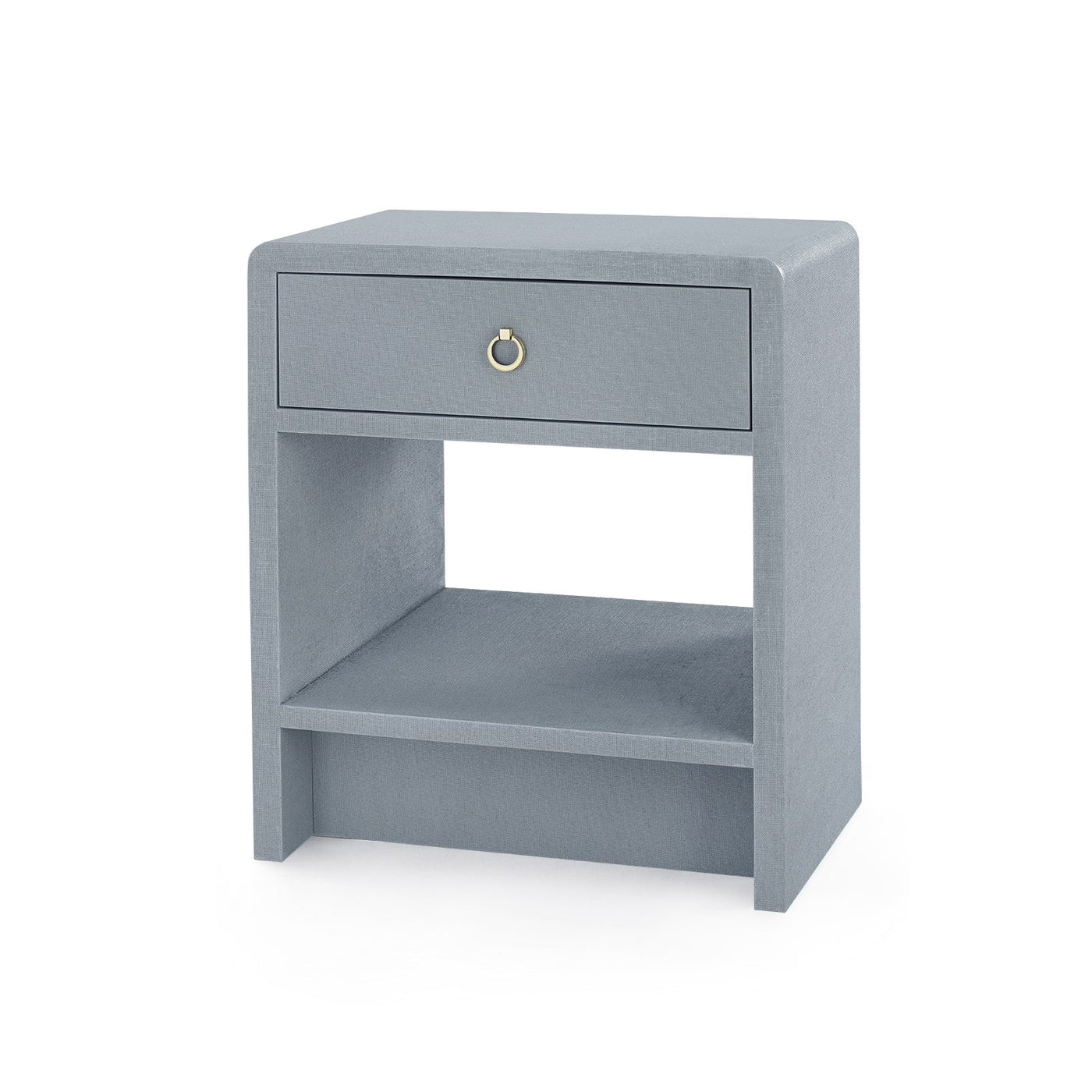 bungalow 5 benjamin linen 1 drawer side table gray angle