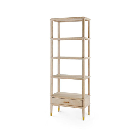 bungalow 5 bertram etagere bleached cerused oak