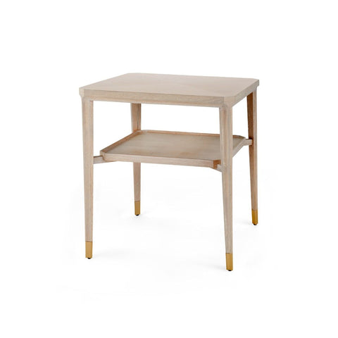 bungalow 5 bertram side table bleached cerused oak